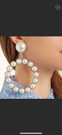 Alessandra Rich Faux Pearl Clip Ons