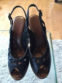 RARE MK LEATHER SLINGBACKS MADE IN ITALY MINT SZ 7.5 St. Thomas, N5R
