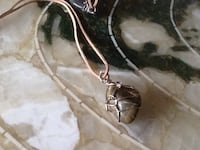 Hip stone/wire wrapped necklace Welland, L3C