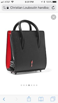 Black and red christian louboutin leather handbag screenshot