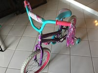 """Kids Girls Child bicycle bicycles Bike removable with training wheels Size 18"""" Sweet Dreams PERFECT CONDITION! LIKE NEW! Dania Beach"""
