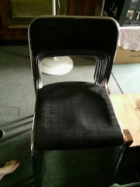 6 black and silver chairs Zanesville, 43701