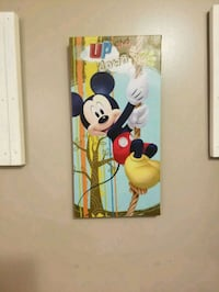 Mickey mouse canvas wall hanging Size7x14Firmprice Omaha, 68132