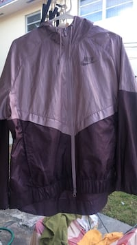 Purple  Nike windbreaker