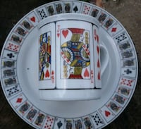Collectable playing card cups & saucer set Jackson