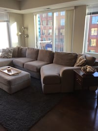 3-Piece sectional with ottoman and pillows Minneapolis, 55416