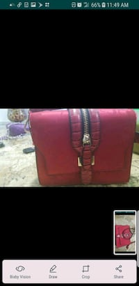 red leather 2-way handbag Las Vegas