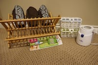 brown wooden crib with changing table Allendale, 49401