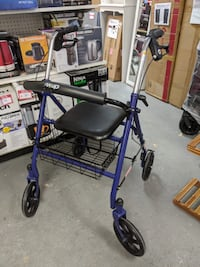Drive Four Wheel Rollator with Fold Up Removable Back Support