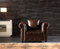 Brown Chesterfield Chair NEW Armchair