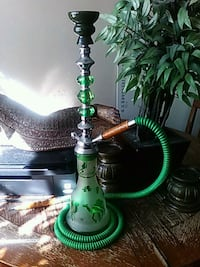 green and silver hookah with hose North Las Vegas, 89030