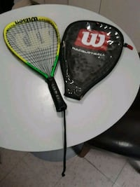 Tennis racquet with case