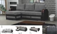 Sofa bed sectional $799 $39 down no credit Check financing  Roslyn Heights, 11577