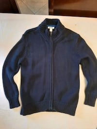 Navy blue cardigan with zipper boys S. Montreal, H1S 1G2