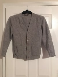 Heather-gray button-up cardigan