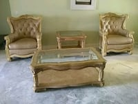 brown wooden framed brown fabric padded sofa set 830 mi