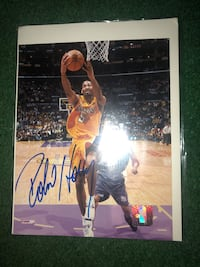 Robert Horry authentic signed photo, lakers