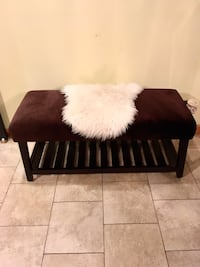 Brown Suede Bench