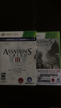 Assassins Creed 3 with Season Pass for Xbox 360 Kitchener, N2P 2H1