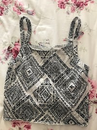 Black and white pattern crop top  Las Vegas, 89178