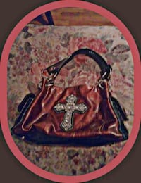 blue and red floral leather handbag Roswell, 88203
