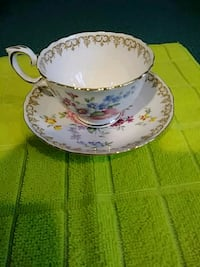 white and blue floral ceramic teacup with saucer Toms River, 08757