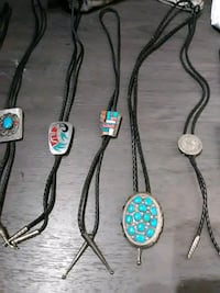 four silver and black necklaces Fairfax, 22033