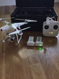 dji phantom 3 standard with travel case and extra battery