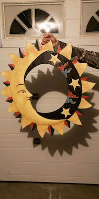 Wooden moon and star deco 3726 km