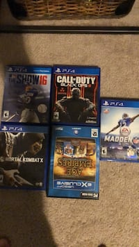 six assorted PS4 game cases Fort Worth, 76131