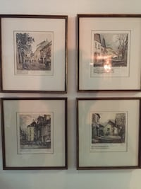 four assorted painting with black wooden frames Lakeville, 55044