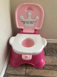 pink and white Fisher Price potty trainer San Antonio, 78227