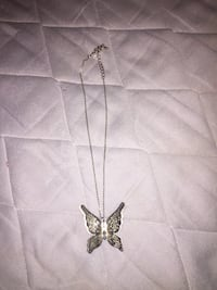 silver-colored butterfly pendant necklace Niagara Falls, L2H 3A7