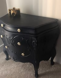 black wooden 2-drawer nightstand Manassas, 20110