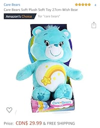 Care Bears Soft Plush Soft Toy 27cm-Wish