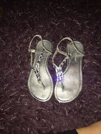 Pair of silver sandals