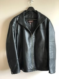 Danier Half-Length Black Leather Jacket (Men's 2XL) Kitchener