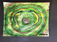 Green geode painting Overland Park, 66212
