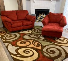 Loveseat Chaise and Rug