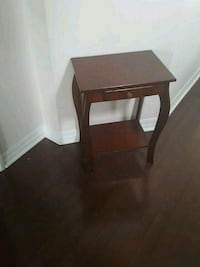 rectangular brown wooden side table