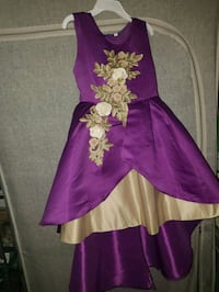 purple and gold floral sleeveless dress Baltimore, 21231