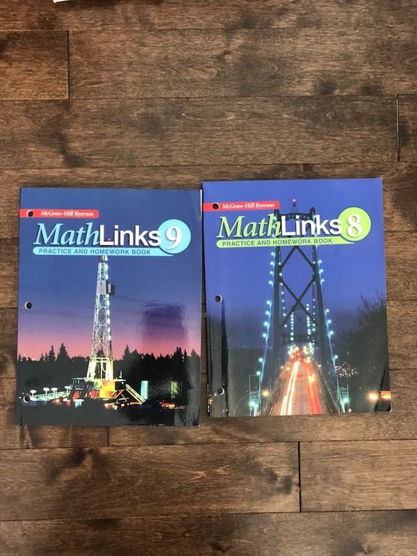 Math Link 8 and 9 book and work books