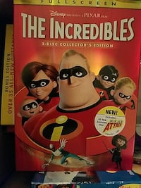 Disney Pixar The Incredibles DVD case