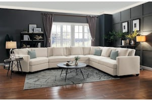 """NEW ! NEW ! HOMELEGANCE SOUTHGATE IVORY SECTIONAL 177"""""""