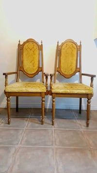 2 Antique Gold Swead Chairs  Montréal, H2P 1C5