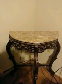 black wooden table with  marble top. Frederick, 21703