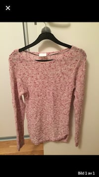rosa och beige scoop-neck sweatshirt skärmdump