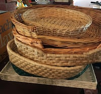 Assorted wicker flat baskets/trays St Albert, T8N 3G3