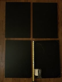 4 magnetic chalkboard wall mounted metal tiles by Pottery Barn