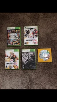 five Xbox 360 game cases Hyattsville, 20785